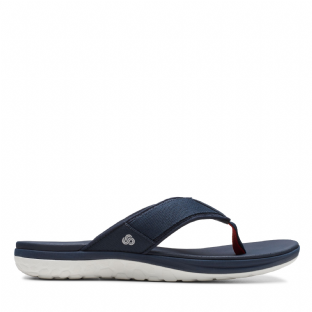 Clarks Mens Step Beat Dune Navy Sandals